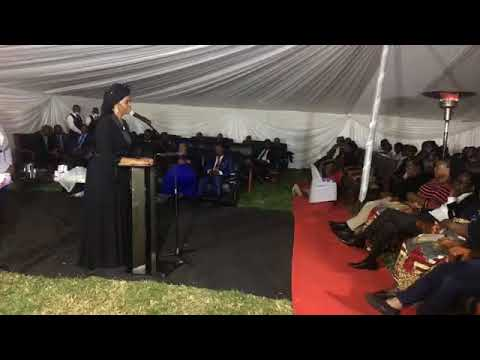 Grace Mugabe speaks at her late mother's funeral