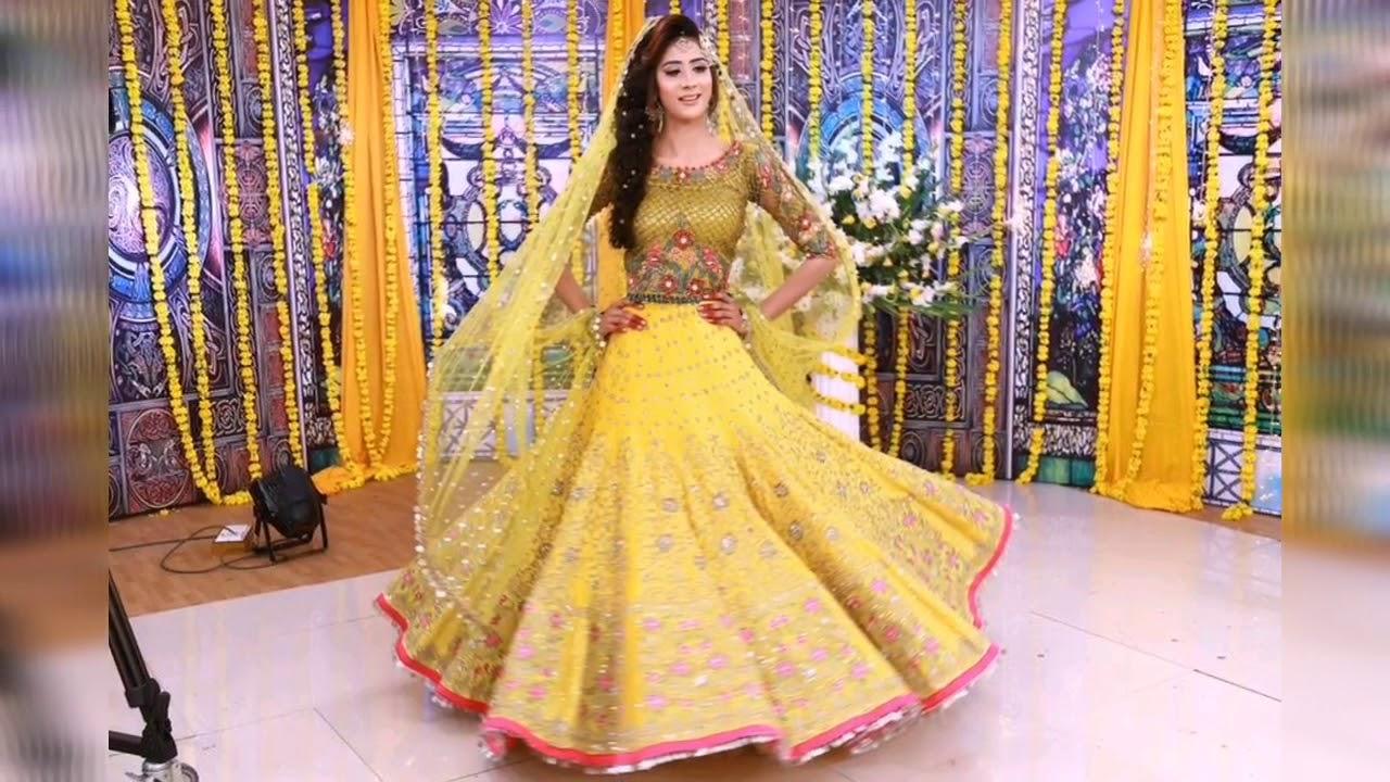 Beautiful Bridal Mehndi Dresses 2019 ll Mehndi Dresses Pakistani For Girls  / Bridal And Formal Dress