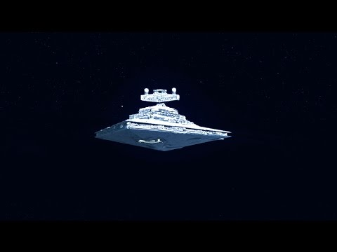 Star Wars - Imperial Star Destroyer Entering Hyperspace Version-1