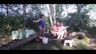 Русские пышечки на природе