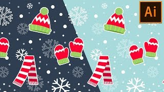 How to Create Winter Themed Seamless Pattern in Adobe Illustrator