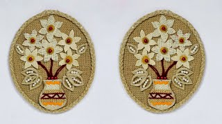 how to make jute wall mat | handmade wall hanging jute | decorate your home with jute craft