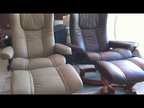 stressless wing and stressless eagle recliners from ekornes youtube