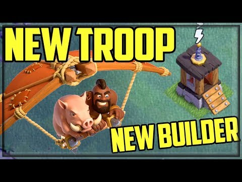 NEW Troop, NEW BUILDER! Clash Of Clans UPDATE Sneak Peek - Builder Hall 9!