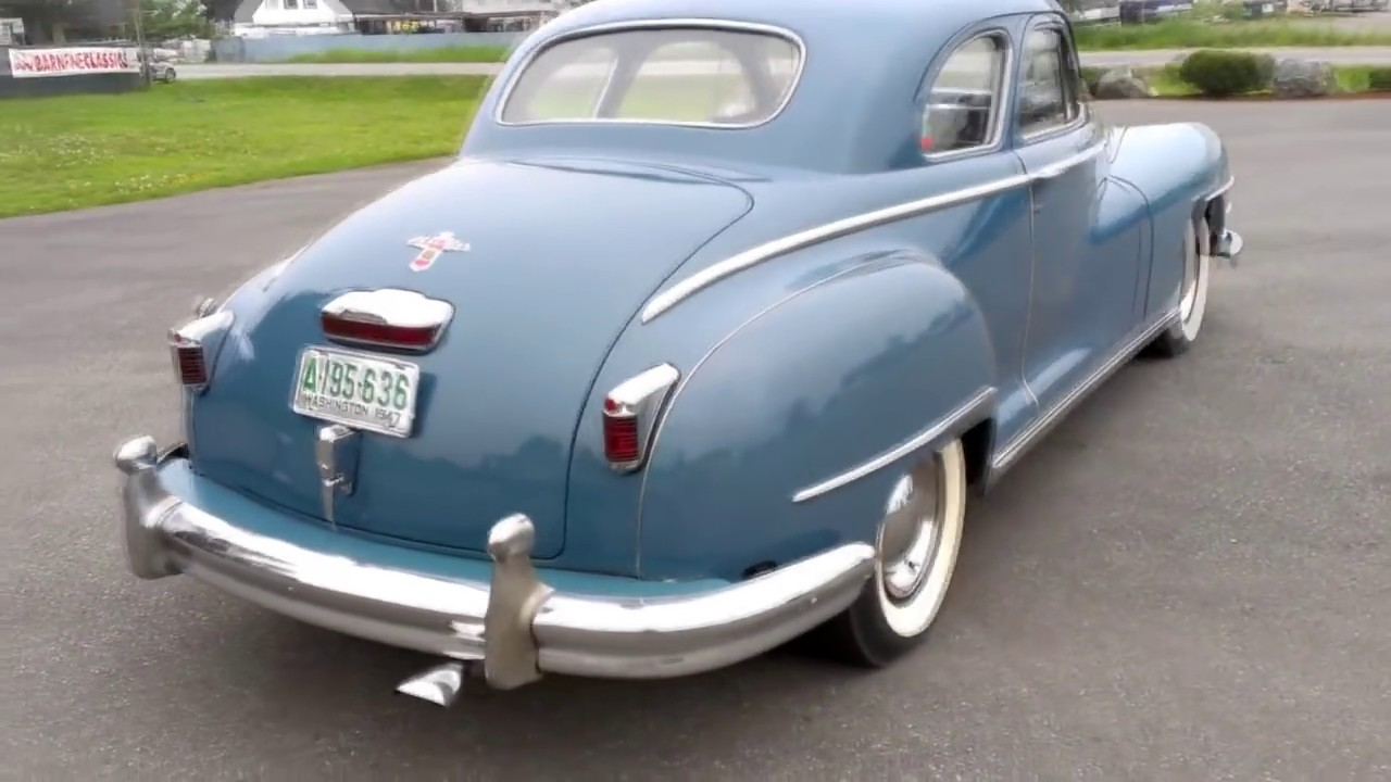 1947 Chrysler New Yorker Club Coupe Youtube