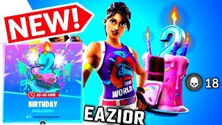 NEW Fortnite Birthday Challenges LIVE| Gifting Anything For Subscribers DESIGNS!