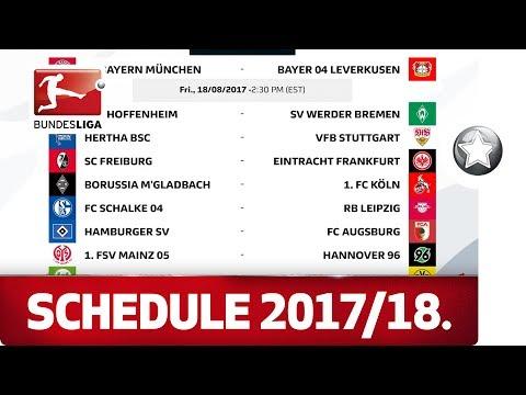 Re-live - bundesliga 2017/18 schedule release
