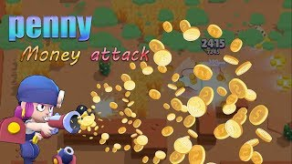 #Penny u0026 #Money attack = Alchemy #BrawlStars | 荒野亂鬥 25