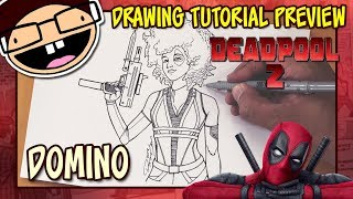 [PREVIEW] How to Draw DOMINO (Deadpool 2) | Drawing Tutorial Time Lapse