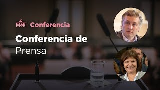 Conferencia de prensa de Patricia Bullrich y Fernando De Andreis