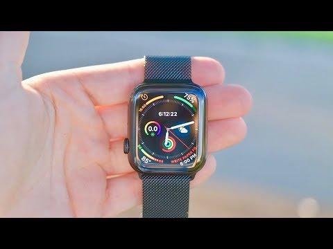apple-watch-series-4-black-stainless-steel-w/-milanese-loop-(44mm):-unboxing-&-review!!!!