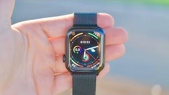 Apple Watch Series 4 Black Stainless Steel w/ Milanese Loop (44mm):  UNBOXING & REVIEW!!!!
