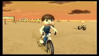 Wii Sports Resort  自転車 (bicycle) ロードレース(Road race) 3ステージレース(3 stage race) 50位から3位です。IOHD0246