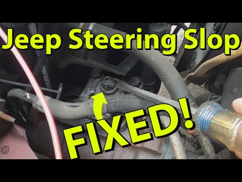 How To Adjust Your Jeep Steering Box – FIX STEERING SLOP EASY!
