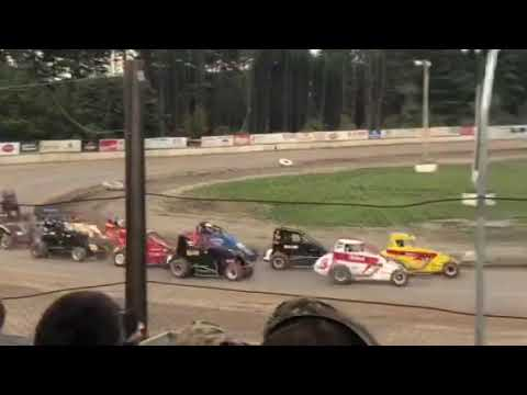 Usac dma midgets 10 lap feature 1 bear ridge speedway 9-22-18 Jason Goff