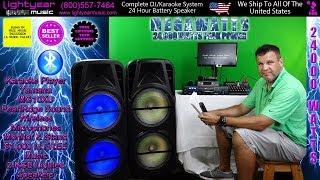 Complete Professional DJ System Karaoke System 24 HR Speaker battery Yamaha Mixer Wireless Mics ✅