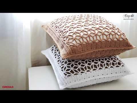 Capa para almofada em crochê   Sem zíper!  - Cushion cover   No zipper!