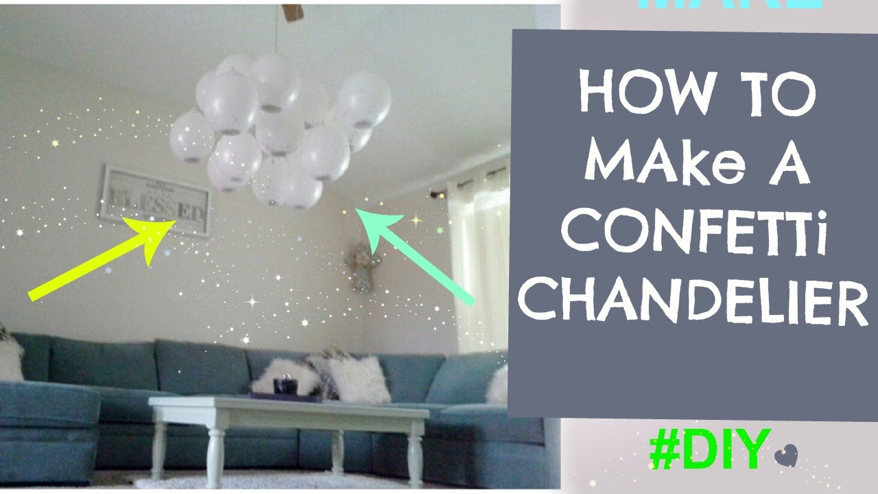 How to make a confetti chandelier balloon cloud youtube for Silver cloud balloons