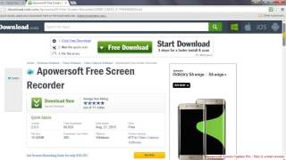 Free easy Downloadable Screen recorder app