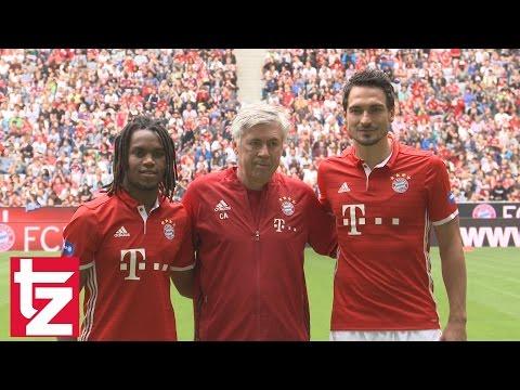 Mats Hummels und Renato Sanches das erste Mal im Bayern-Trikot
