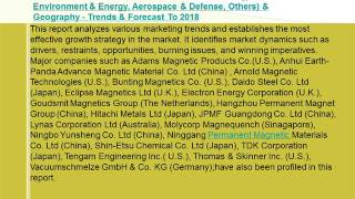 Permanent Magnet Market Forecast To 2018