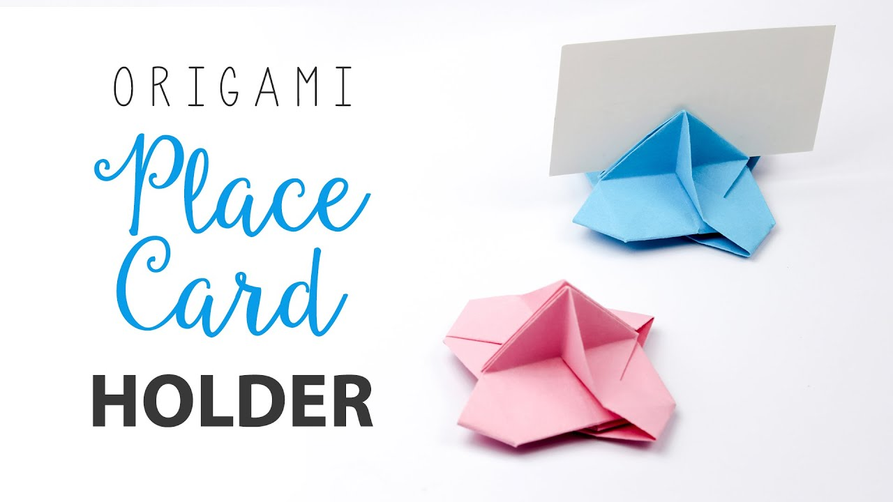 Origami Place Card Holder Tutorial Stand DIY Paper Kawaii