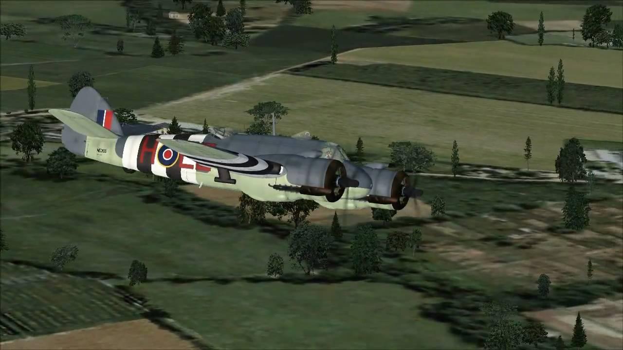 Fsx Wallpaper Hd Bristol Beaufighter Quot Raf Patrolling The Channel 1944 Quot Fsx