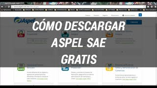 Cómo Descargar Aspel SAE Gratis Versión 6.0 Reinstalable 7