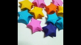 折り紙 ラッキースター 折り方 How to fold origami lucky star thumbnail