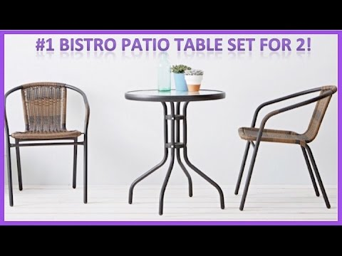 Bistro Patio Table Set For Two With Metal Table And Chairs