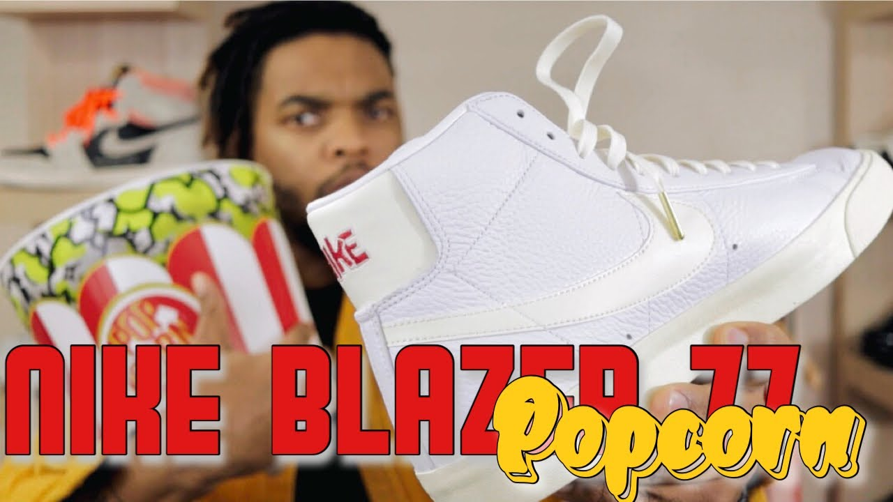 """WHAT ARE THESE?!!   Nike Vintage Blazer 77 """"Popcorn""""   Sneaker Review"""