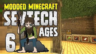 Minecraft SevTech: Ages | 6 | BASE: Hermit Hobbit Hole (of doom) | Modded Minecraft 1.12.2