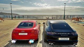 Forza Horizon 3 Online - Racha Na Praia - Porsche Panamera Do EduKof VS Audi TT Do ALASK BR