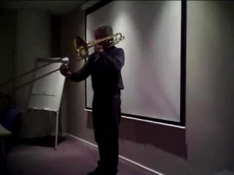 Sarabande Cello suite 1,  J.S. Bach. Bass trombone