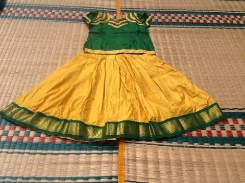 6dba8ee3cc7 Girls Pattu Pavadai Blouse Design || pattu pavadai embroidery designs