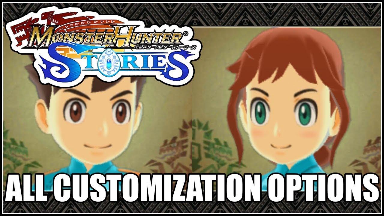 Monster Hunter Stories All Customization Options Rider Boy Girl
