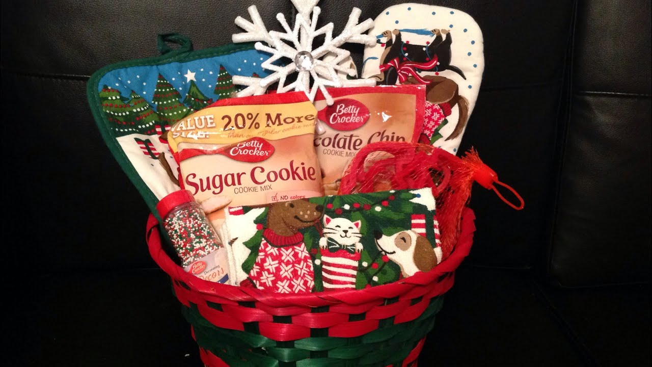 Dollar General Christmas Baking Gift Basket Idea 6 12 Youtube