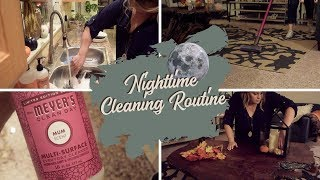 FALL NIGHTTIME CLEANING ROUTINE | With Fall Decor Ideas | RELAXING CLEANING MOTIVATION