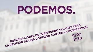 Declaraciones de Juan Pedro Yllanes tras la petición de una comisión contra la corrupción
