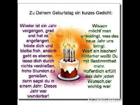Gedicht Geburtstag
