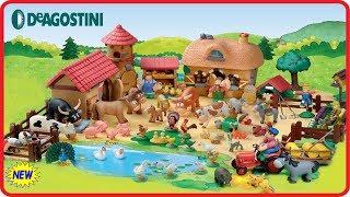 Животные на ферме ДеАгостинИ Видео для детей с игрушками Animals on the farm