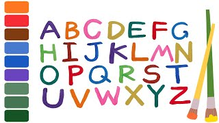 [영어놀이]알파벳 영어 동요 들으며 붓으로 알파벳 쓰기…