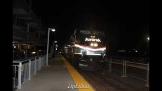 Amtrak Office Car Special hauls through North Leominster, MA with hornshow!