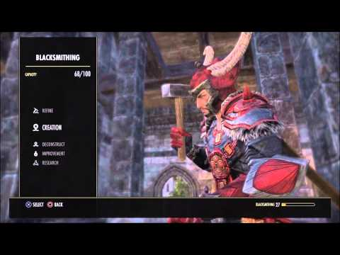 Levelling Crafting Eso