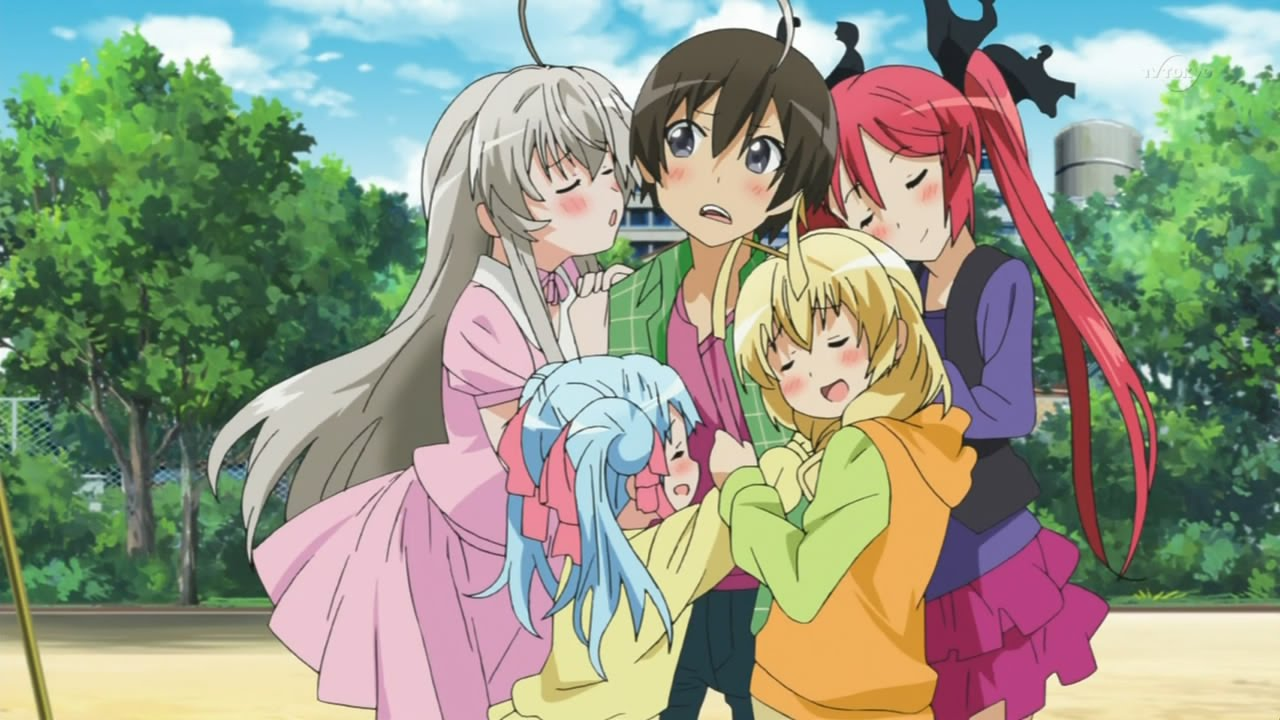 Аниме в жанре романтика и гарем несколько девушек и один парень