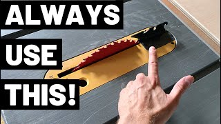 NEVER USE A TABLE SAW WITHOUT THIS!! (Riving Knife / Riving Knives--Prevent Kickback/Blade Binding!)