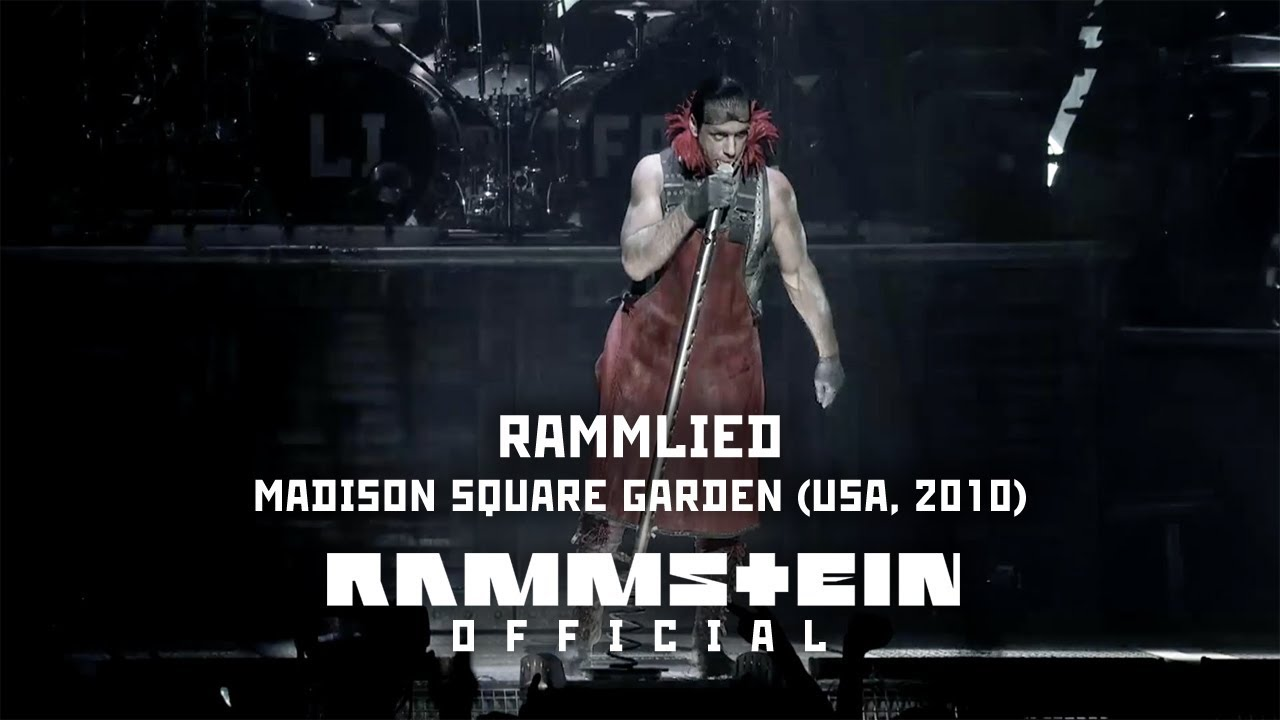 Rammstein Rammlied Live From Madison Square Garden Youtube