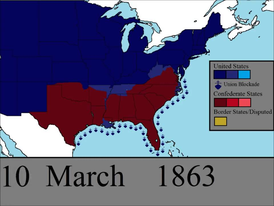 Day by Day Map of the American Civil War YouTube