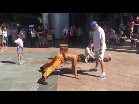 Australia Day - Street performances - Jackie Chan Chan
