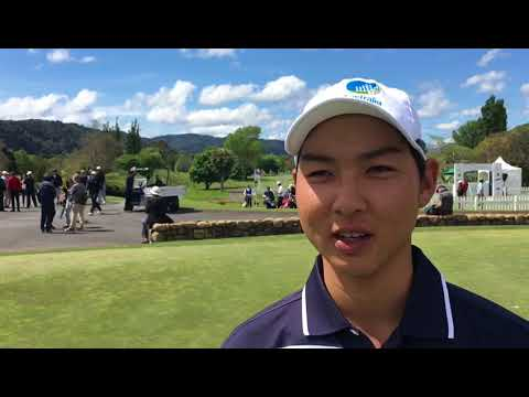 Min Woo Lee after round one of the 2017 Asia-Pacific Amateur Championship in New Zealand